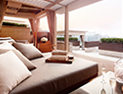 <p>Different styles of cabanas are available for you in which to enjoy a relaxing time.</p>