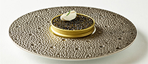 Caviar with Snow Crab, Bavarois and Citrus Jelly
