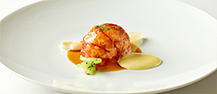 Butter-poached Lobster with Fennel, Celery and Orange Bisque