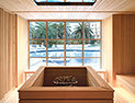 <p>Enjoy a dry sauna with a picturesque full-window view.</p>